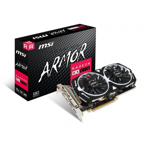 image else for Msi Amd Radeon Rx 570 Armor 8g Oc Graphic Card Gddr5 256bit Dx12 Displayport X 3 Hdmi X 1 Dvi-d RADEON RX570 ARMOR 8G OC