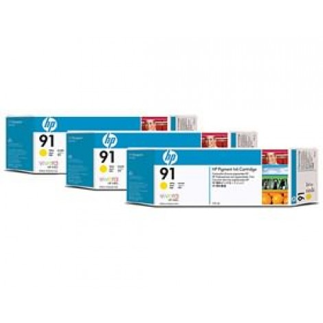 image else for Hp 91, 3 Ink Multi Pack Yellow C9485a C9485A