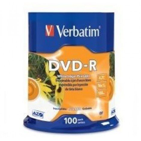 image else for Verbatim Dvd-r 4.7gb 16x White Inkjet 100pk Spindle 95153 95153