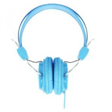image else for Laser Ao-headk-bl Headphones Stereo Kids Friendly Colourful Blue AO-HEADK-BL