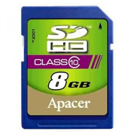 image else for Apacer Sdhc 8gb Class10 Retail For Dslr And Video Recorder, 10mb/ S Minimum Writing Performance AP8GSDHC10-R