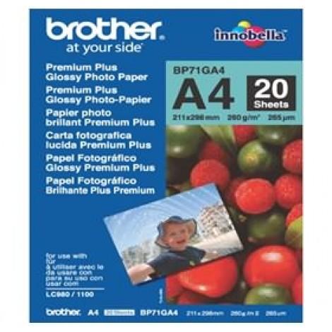 image else for Brother Bp71ga4 A4 Premium Plus Glossy Paper (20 Sheets) - 260 Gsm BP-71GA4