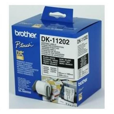 image else for Brother Dk11202 White Shipping Name Badge Labels 62 X 100mm 300 Labels DK-11202