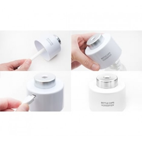 image else for Mini Portable Bottle Cap Air Humidifier With Usb Cable White, Moisture Relief