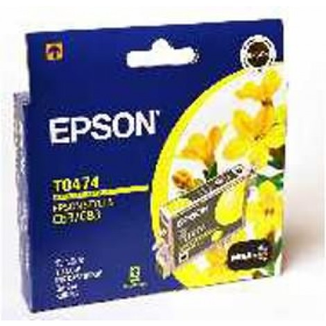image else for Epson T0474 Ink Cartridge Yellow 250 Pages C13t047490 C13T047490