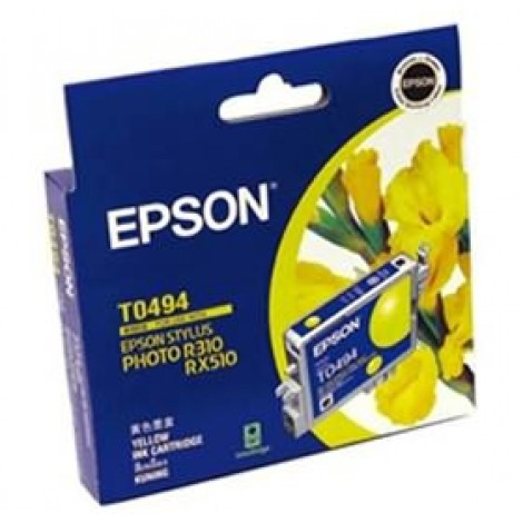 image else for Epson T0494 Ink Cartridge Yellow 430 Pages C13t049490 C13T049490