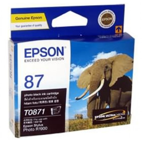 image else for Epson T0871 Photo Black Ink Cartridge R1900 C13t087190 C13T087190