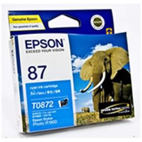 image else for Epson T0872 Cyan Ink Cartridge R1900 C13t087290 C13T087290