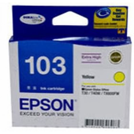 image else for Epson 103 Extra High Cap Ink Cart Yellow C13t103492 C13T103492
