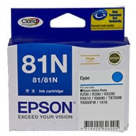 image else for Epson 81n High Capacity Claria Ink Cart Cyan C13t111292 C13T111292