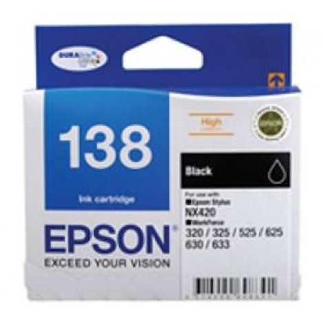 image else for Epson 138 High Capacity Black Ink Cartridge Workforce 840 633 630 625 525 60 325 320 Nx420 C13t138192 C13T138192