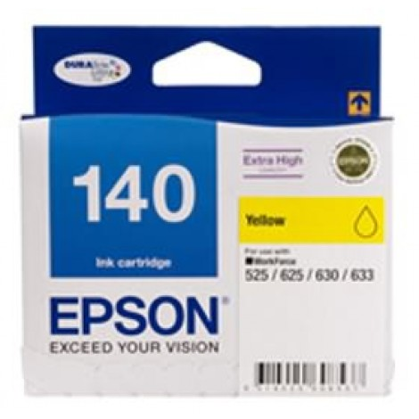 image else for Epson 140 Extra High Capacity Yellow Ink Cartridge Workforce 840 633 630 625 525 60 C13t140492 C13T140492