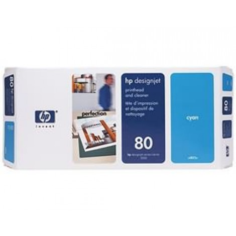image else for Hp 80 Printhead & Cleaner Cyan C4821a C4821A