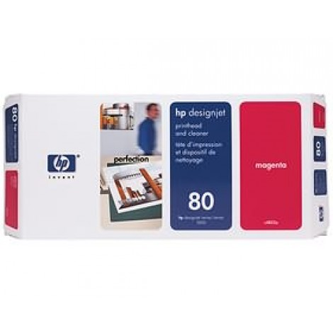 image else for Hp 80 Printhead & Cleaner Magenta C4822a C4822A