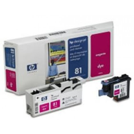 image else for Hp No 81 Dye Printhead And Cleaner Magenta C4952a C4952A