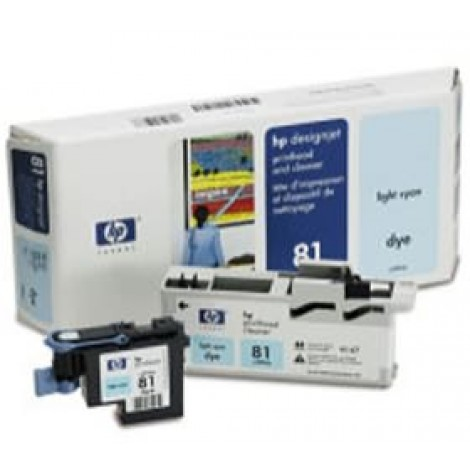 image else for Hp No 81 Dye Printhead And Cleaner Lt Cyan C4954a C4954A