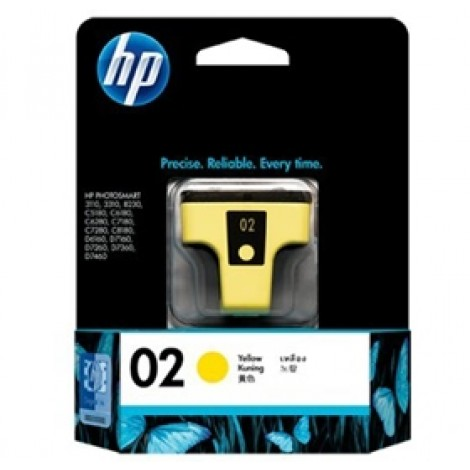 image else for Hp C8773wa Hp 02 Ap Yellow Ink Cartridge C8773WA