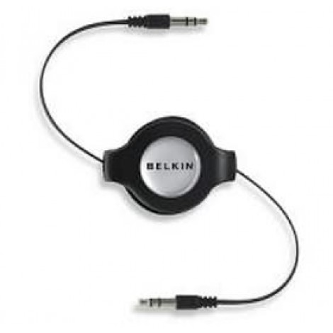 image else for Belkin Iph/ Ipod/ Mp3 3.5mm/ 3.5mm Retract Cable F3x1980-4.5-blk F3X1980-4.5-BLK