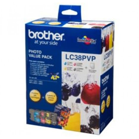 image else for Brother Lc38pvp Lc-38 Photo Value Pack For Mfc-145c/ 165c LC-38PVP