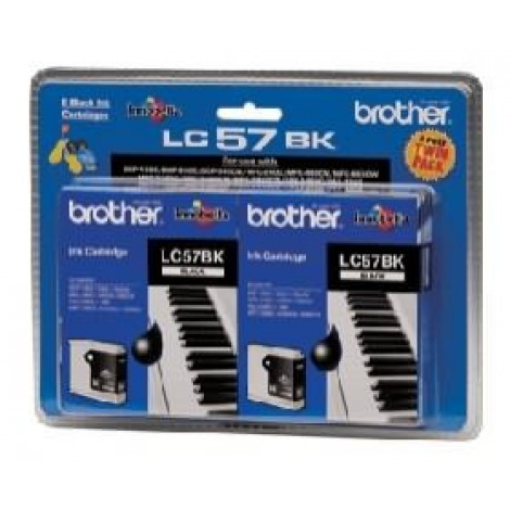 image else for Brother Lc57bk2pk Blk Ink 2 Pack Lc57bk2pk For Dcp-350c, Mfc-465cn/ 885cw LC-57BK 2PK