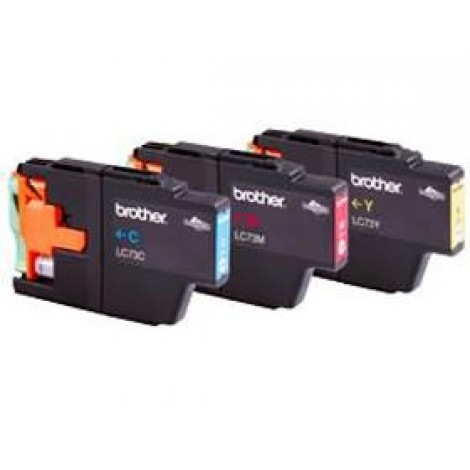 image else for Brother Lc73pvp Value Pack-blk, Cyan, Magenta, Yellow + 40 Sheets Photo Paper