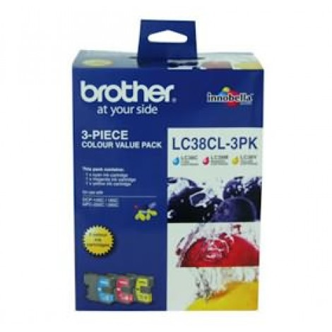 image else for Brother Lc38cl3pk Lc-38 Colour Value Pack For Dcp-145c/ 165c LC-38CL 3PK