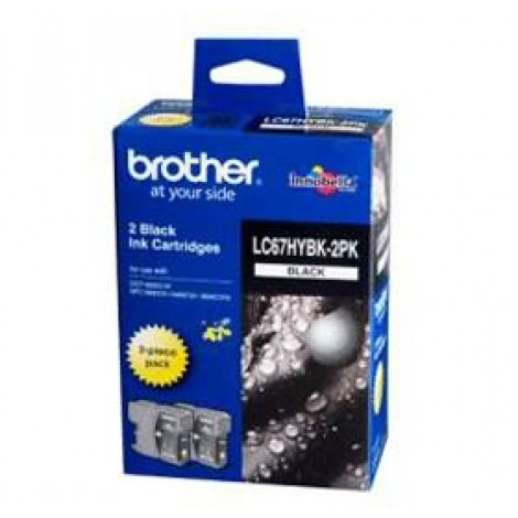 image else for Brother Lc67hybk2pk Twin Pack Blk High Yield Ink Cartridge For Mfc-5890cn/ 6490cw
