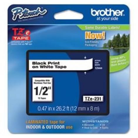 image else for Brother Tze231 12mm Black On White Tz Tape TZE-231