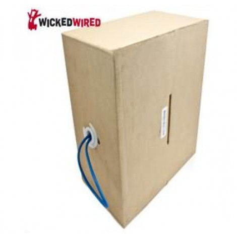 image else for Wicked Wired 305m Blue CAT5E UTP Stranded Network Cable Roll WW-N-CAT5-ROLL305M WW-N-CAT5-ROLL305M