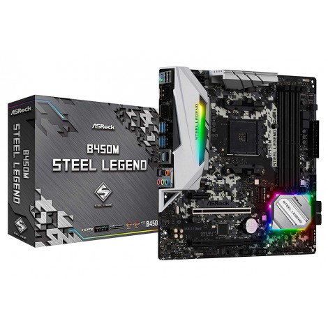 image else for Asrock B450M Steel Legend Amd Am4 Matx Mb B450M-Steel Legend B450M-STEEL LEGEND