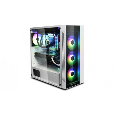 image else for Deepcool Matrexx 55 Argb Wh Full Sized Tempered Glass Case White Colour Supports E-Atx Argb Led