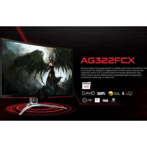 """image else for AOC AGON 31.5"""" VA 4ms 144Hz Full HD FreeSync Curved Gaming Monitor - HDMI/ DP/ DVI/ VGA, Tilt AG322FCX/ AG322FCX/75"""