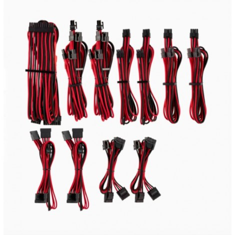 image else for Corsair For Corsair Psu - Red/ Black Premium Individually Sleeved Dc Cable Pro Kit Type 4 (Generation CP-8920226