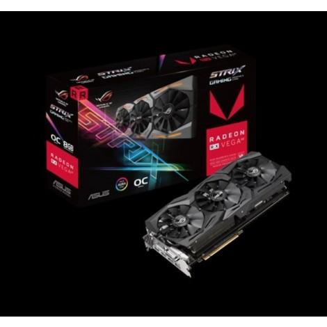 image else for Asus Amd Radeon Rog-strix-rxvega64-o8g-gaming Ddr5 Pcie Vidro Card 7680x4320 1xdvi 2xhdmi 2xdp Rog-strix-rxvega64-o8g-ga ROG-STRIX-RXVEGA64-O8G-GAMING