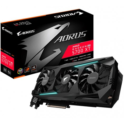 image else for Gigabyte Aorus Radeon Navi Rx 5700 Xt 8Gb Gddr6 Pcie Graphic Card 8K 7680X4320@60Hz 6Xdisplays 3Xdp 3Xhdmi 2010/ 1770Mhz Freesync Rgb2.0 Gv-R57Xtaorus-8Gd GV-R57XTAORUS-8GD
