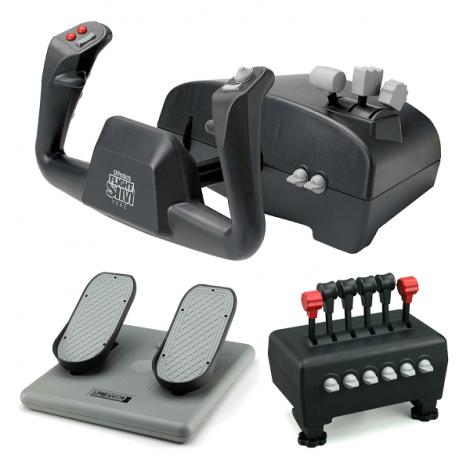 image else for Ch Captain's Pack Includes Flight Sim Yoke (usb), Pro Pedals (usb) & Quadrant Throttle CH-CAPTAIN