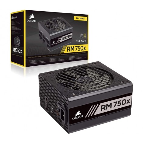 image else for Corsair RM750x 750 Watt 80 PLUS Gold Certified Fully Modular PSU CP-9020179-AU, 135mm Fan, ATX, 10 Years Warranty CP-9020179-AU