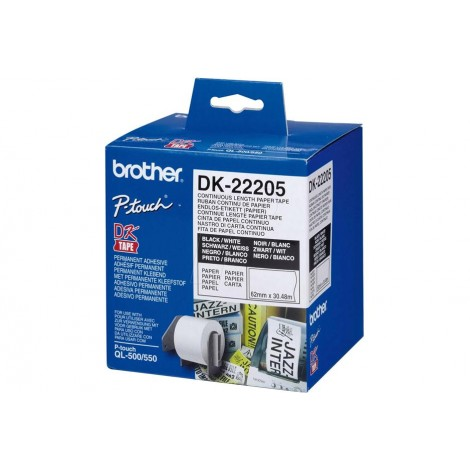 image else for Brother Dk22205 White Continuous Paper Roll 62mm*30.48m DK-22205