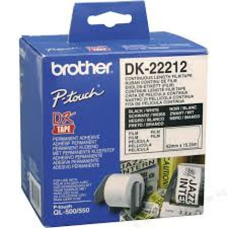 image else for Brother Dk22212 White Continuous Film Roll 62mm X 15.24m DK-22212