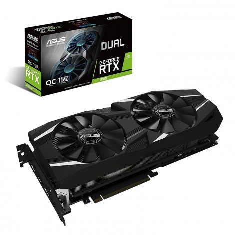 image else for Asus Geforce Rtx 2080 Ti O11G Dual-Fan Oc Edition Gddr6 Hdmi Dp 1.4 Usb Type-C Graphics Card DUAL-RTX2080TI-O11G