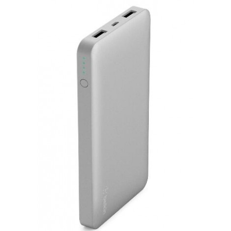 image else for Belkin Pocket Power Bank 10000 Mah Usb A (2) Mirco Usb (1) Silver F7U039Btslv F7U039BTSLV