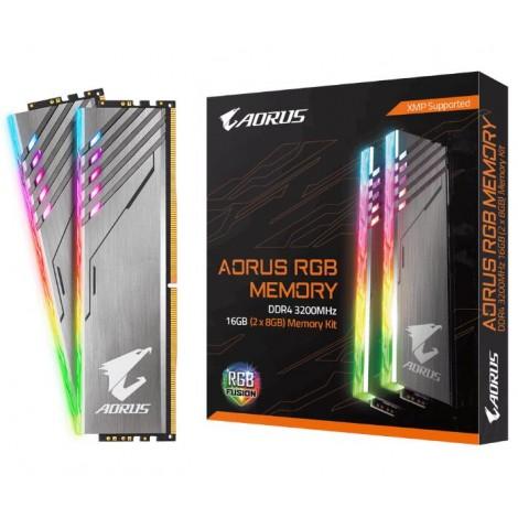 image else for Gigabyte Aorus Rgb Gaming Memory 16Gb (2X8Gb) Ddr4 3200Mhz C16 1.35V 16-18-18-38 Xmp Dual Channel GP-AR32C16S8K2HU416R