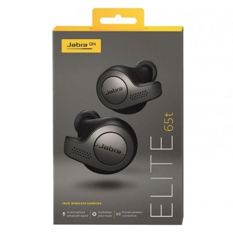 image else for Jabra Elite 65t True Wireless Earbuds & Charging Case Titanium Black 100-99000000-40
