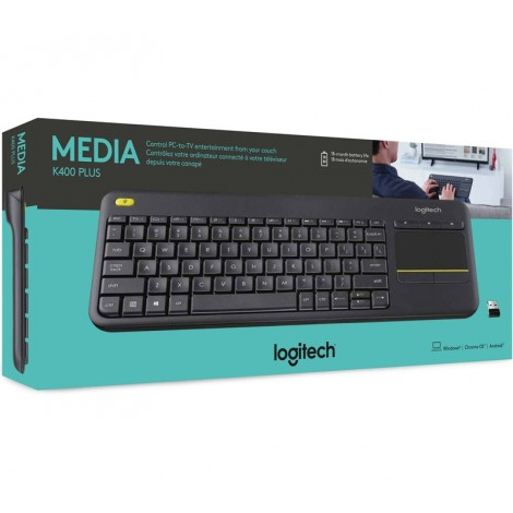 image else for Logitech K400 Plus Wireless Keyboard with Touchpad & Media Keys for PC 920-007165 920-007165