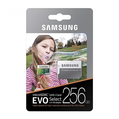 image else for Samsung Evo Select 256GB Micro SDXC with Adapter, 100MB/s, U3, MB-ME256GA MB-ME256GA
