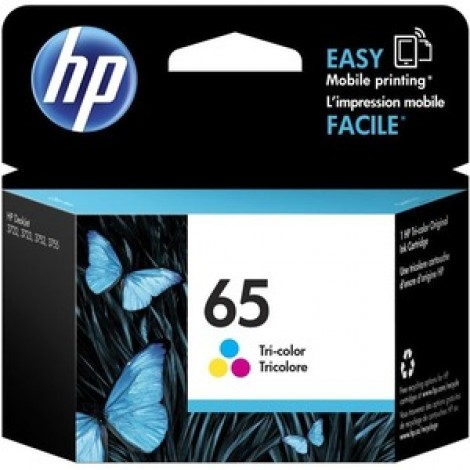 image else for Hp 65 Tri-Colour Original Ink Cartridge N9K01Aa N9K01AA