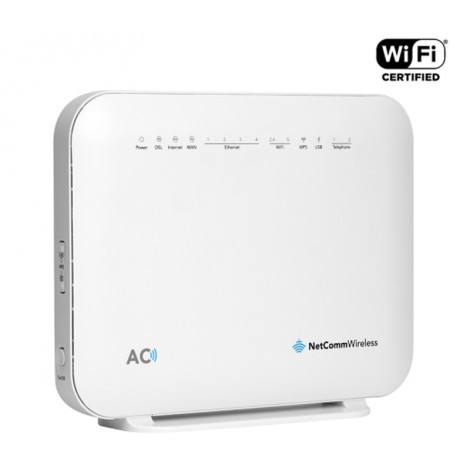 image else for Netcomm NF18ACV AC1600 Wi-Fi XDSL Modem Router With Voice, NBN, 4x Giga Lan, 2x VOIP, USB NF18ACV