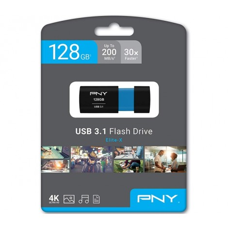 image else for PNY 128GB Elite-X USB 3.1 Flash Drive P-FD128ELX-GE, Read 200MB/s Write 100MB/s  P-FD128ELX-GE