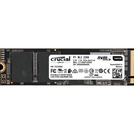 image else for Crucial P1 1tb 3d Nand Nvme Pcie M.2 Ssd [ct1000p1ssd8] 5yr Wty Ct1000p1ssd8 CT1000P1SSD8
