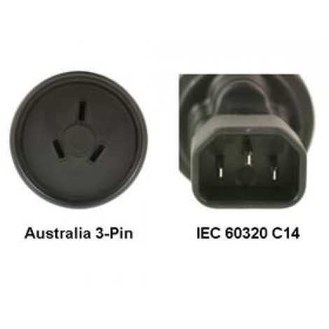 image else for Au To Iec 60320 C14 Power Plug Adapter PA-3235